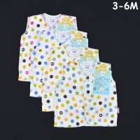 LIBBY 4 Pcs Baju Kutung Bayi/Baby Polkadot (3-6M)