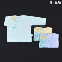 LIBBY 3 Pcs Baju Lengan Panjang Bayi/Baby Warna (3-6M)