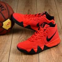 Nike Kyrie 4 university Red Black team Red sepatu Basket