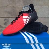Sepatu Futsal Adidas X Techfit High Merah List Putih Import