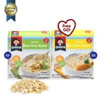 [Mix Pack] Quaker Instant Oatmeal Soto & Kari Box 4s - 4 Pcs [GWP] [P]