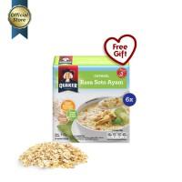 Quaker Instant Oatmeal Soto Ayam Box 4s - 6 Pcs [GWP] [P]