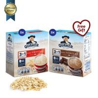 [Mix Pack] Quaker 3 in 1 Original & Chocolate Box 4s - 4 Pcs [GWP] [P]