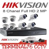PAKET CCTV HIKVISION 2MP 8 CHANNEL FULL HD KOMPLIT TINGGAL PASANG