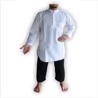 baju koko gamis pakistan putih