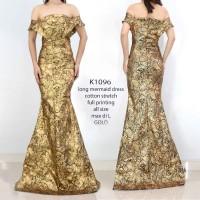 long dress mermaid - K1096 598rb long dress batik sabrina mermaid