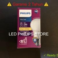 Lampu Bohlam LED Philips 8 Watt Kuning/Warm White (8W 8 W 8Watt)