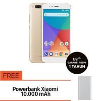 READY STOCK! Xiaomi Mi A1 64GB + Mi Powerbank2 10.000mAh (Silver)