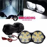 LAMPU TEMBAK SOROT KABUT MOBIL MOTOR 18 LED 36 WATT SAFETY RIDING