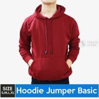 Jaket Sweater Polos Hoodie Jumper Maroon