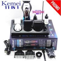 Mesin Cukur Rambut Kemei KM-5031 Super Clipper set 11 in 1 Original