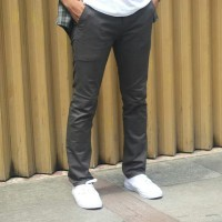Celana Chino Pria Abu - Abu Keren / Celana Bahan / Celana Katun