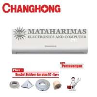 Changhong AC Deluxe Wall Mounted Split 1 PK - CSC 09NVB + Pasang