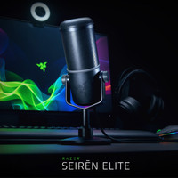 Razer Seiren Elite Streaming Mic - Professional Studio Grade Recording