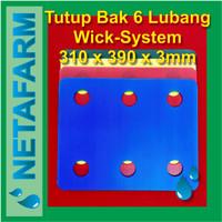 Impraboard Tutup Bak Baki Hidroponik 6 Lubang Sistem Wick