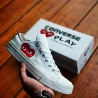 Sepatu Converse CDG Play White Unizex Sneakers Pria-Wanita Terbaru