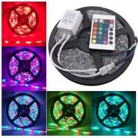 Lampu led strip rgb warna warni tipe 5050 set komplit