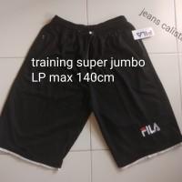 Celana training olahraga fila / celana pendek dewasa super jumbo