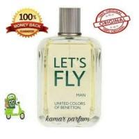 Parfum Pria Benetton Let's Fly 100ml Ori eropa reject Non Box