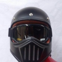 helm retro cakil with anti fog google