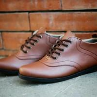 Sepatu pria casual sepatu formal kerja kantoran warna coklat