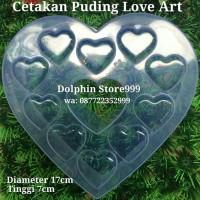 Cetakan Puding Love Art/Cetakan Agar Love/Cetakan Jelly/Cetakan Bolu