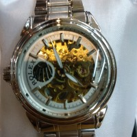 jam tangan automatic silver rantai