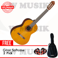Yamaha Gitar CX40 / CX-40 / CX 40 - Natural + Softcase & 2 Pick