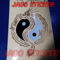 Stiker / Sticker Cutting Naga Tribal Yin Yang