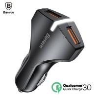 BASEUS QC 3.0 Car Charger 5V 3A Dual USB Port Quick Charging
