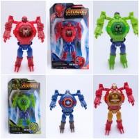 Jam tangan robot avengers laser proyektor ironman hulk spiderman