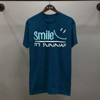 Kaos / Distro / Kaos Unisex / Kaos Dakwah / Muslim Kaos Smile sunnah
