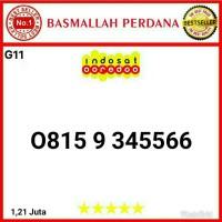 Nomer Nomor cantik IM3 11 digit seri Urut 3456 AABB 0815 9 345566 G11