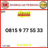 Nomer Nomor cantik IM3 11 digit seri AABBCc 775533 0815 9 77 55 33 G11