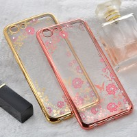 CASING OPPO A83 / OPPO A3S SILICON FLOWER DIAMOND SOFT CASE