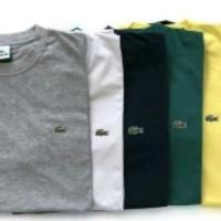 Tshirt kaos baju pria big size 2xl 3xl 4xl LACOSTE NEW BRANDED - Merah