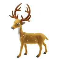 RUS-ME 30CM boneka rusa deer natal pajangan dekorasi patung figure