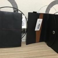 Ready fossil man passport black wallet original