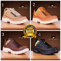 SEPATU PRIA CATERPILLAR MARSHAL SAFETY SHOES LOW BOOTS UJUNG BESI - Hitam, 39