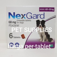 NEXGARD obat kutu/demodex untuk anjing dengan berat badan 10-25 kg