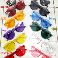 READY STOCK : Kacamata Fashion Murah Transparan Warna-warni Wanita Cou