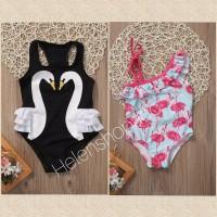 bikini anak bayi cewe flamingo lucu/baju renang swimsuit 6bulan-5thn