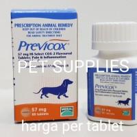 Obat rematik anjing dan anti radang TERBAIK, Previcox 57 mg