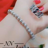 xuping gelang cincin lapis emas putih 24k 0949