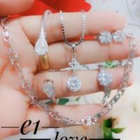 xuping perhiasan kalung gelang cincin lapis emas putih 24k 0956