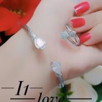 xuping gelang cincin lapis emas putih 0955