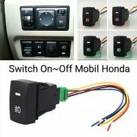 Saklar Lampu Mobil Honda / Tombol On Off Lampu Mobil DC 12 Volt