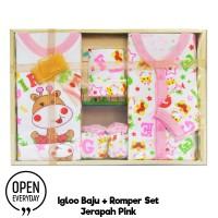 IGLOO ROMPER SET - IGLOO BAJU BAYI SET - BABY GIFT SET / JUMPER