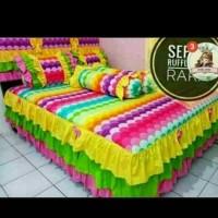 seprei size king pelangi /rainbow180x200x300 60cm rumbai