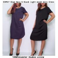 ESPRIT Navy Blue N Black Moven mini Dress brand murah